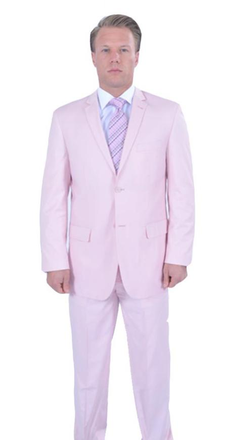 Mens 2 Piece affordable suit online sale Pink