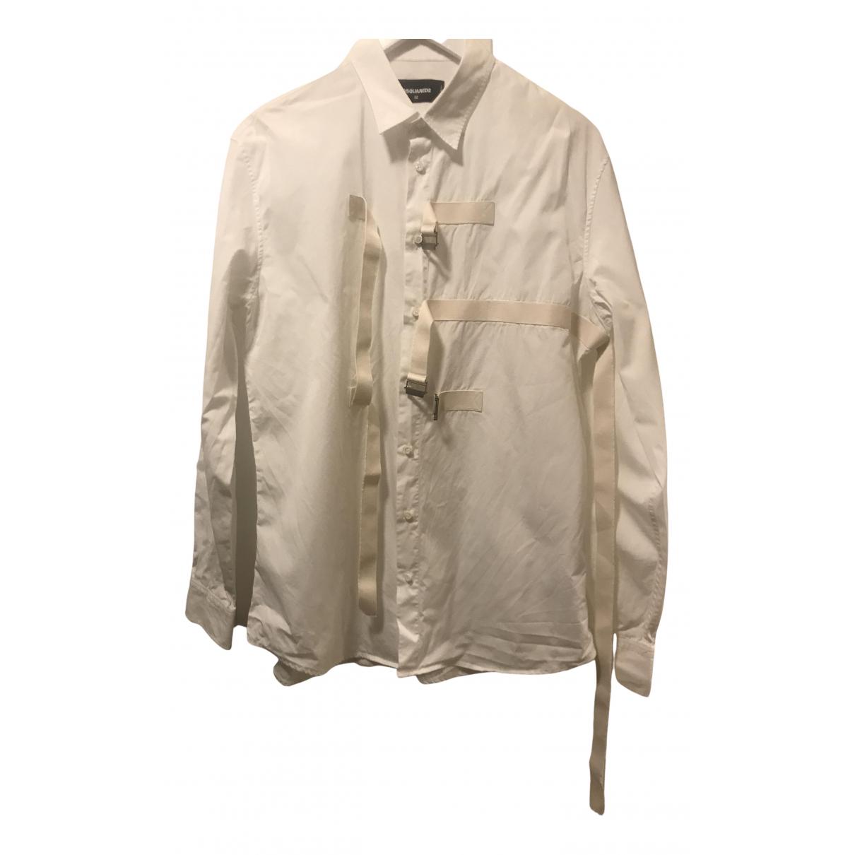 Dsquared2 - Chemises   pour homme en coton - blanc
