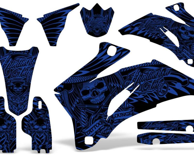 AMR Racing Dirt Bike Graphics Kit Decal Wrap For Yamaha YZ250F YZ450F 2006-2009áHISH BLUE
