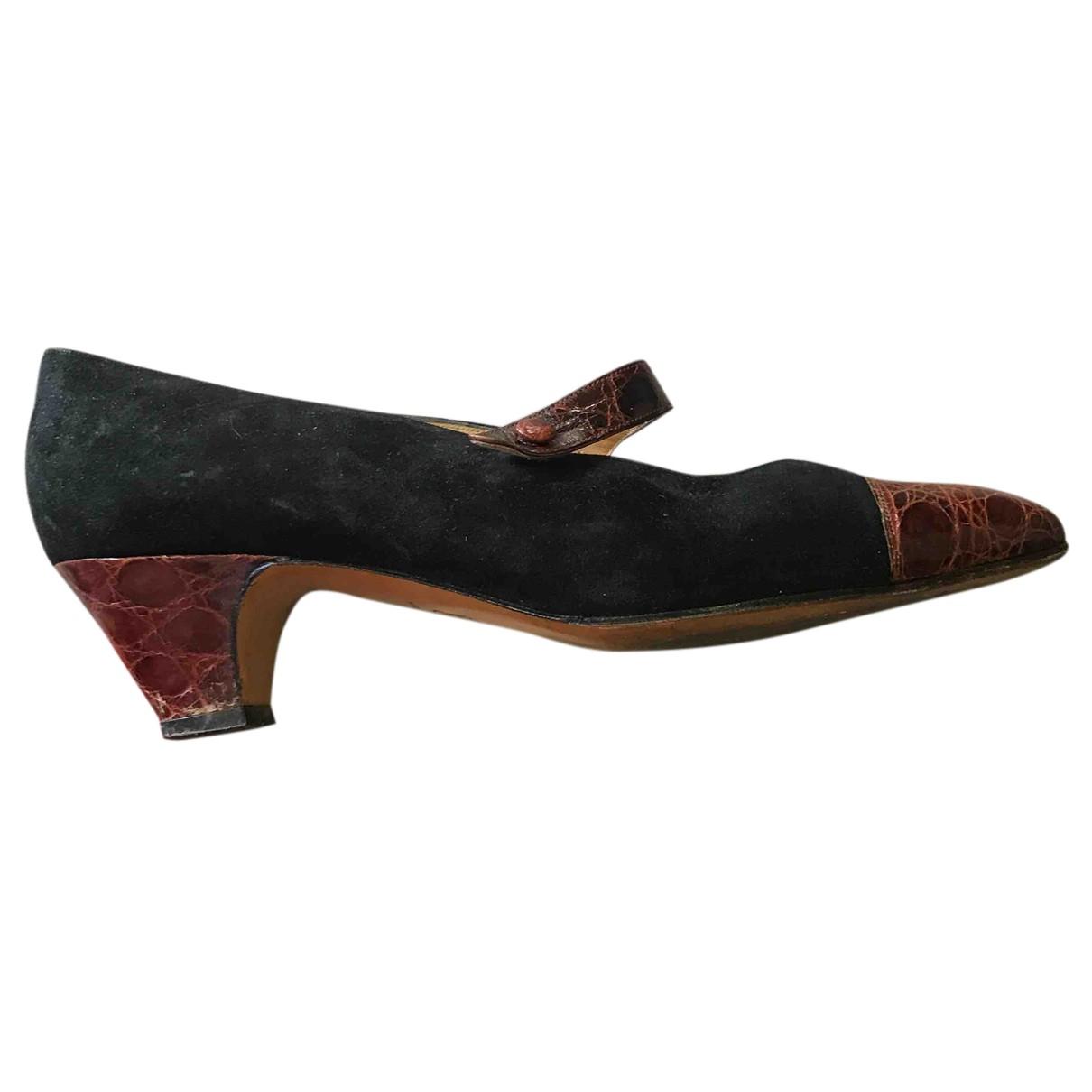 Sutor Mantellassi - Escarpins   pour femme en cuir - noir