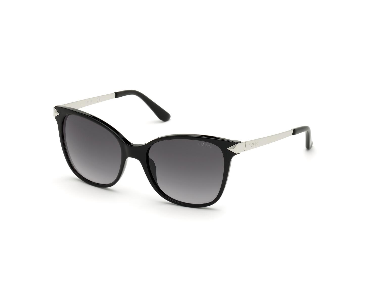 Guess Womens Mirrored Gu7657 GU7657-01C-56 Black Rectangle Sunglasses