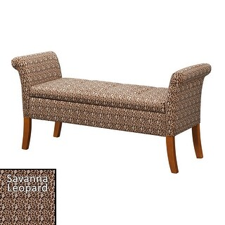 Copper Grove Helena Storage Bench (Savanna Leopard Print)