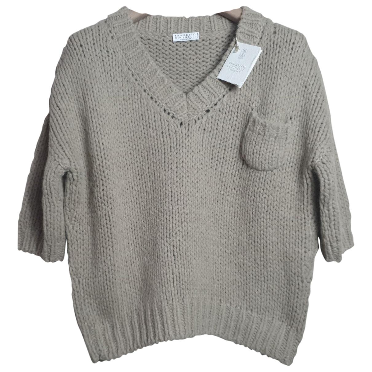 Brunello Cucinelli N Beige Wool Knitwear for Women M International