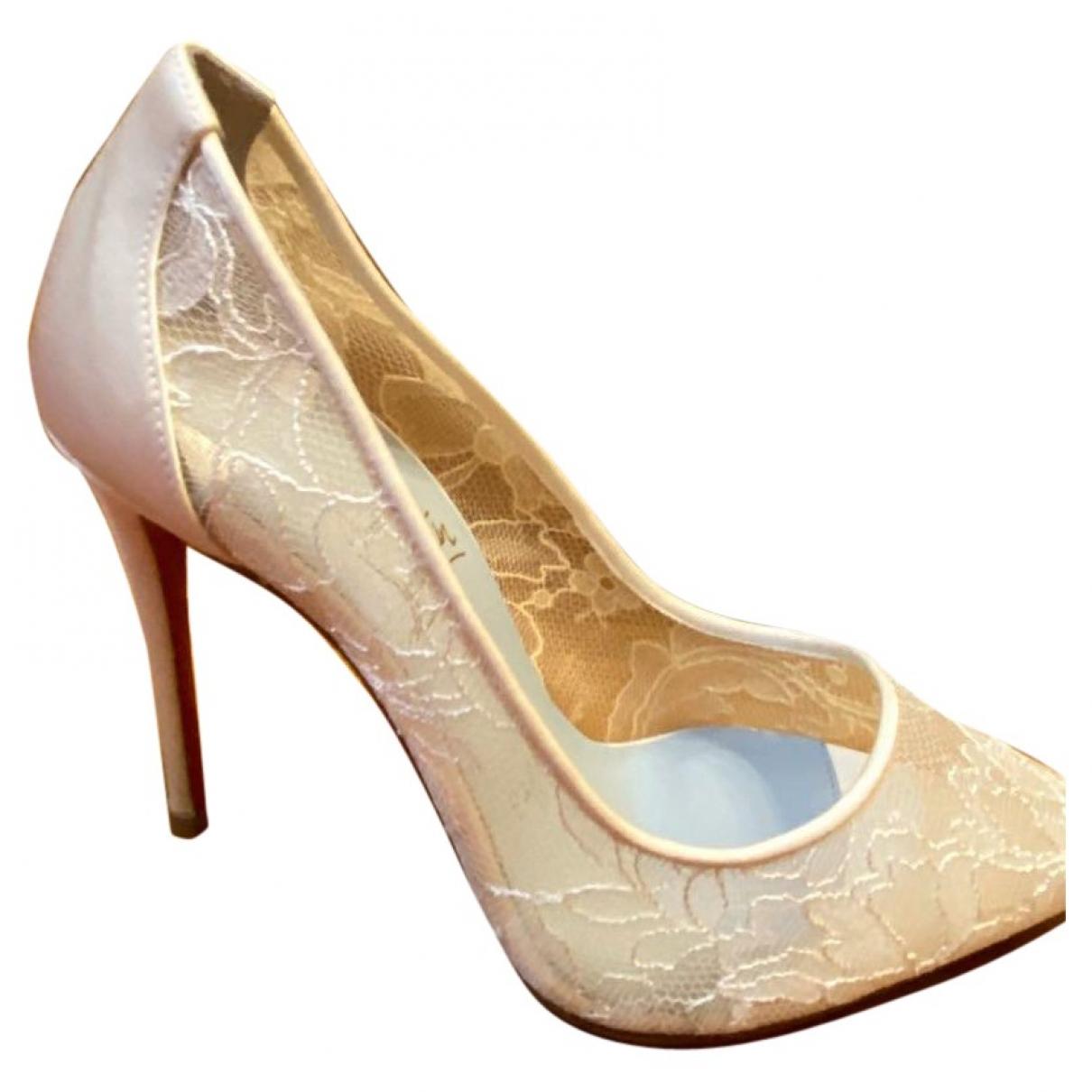 Christian Louboutin \N White Cloth Heels for Women 36 EU