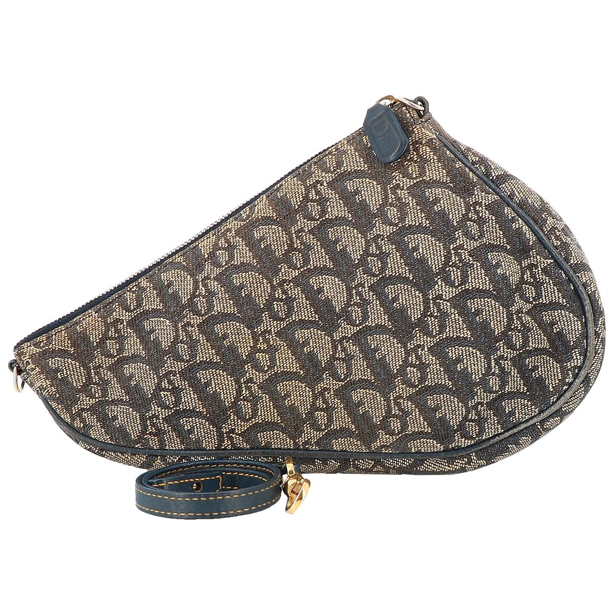 Dior - Pochette Saddle pour femme en toile - marron
