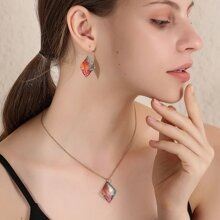 3pcs Geometric Decor Jewelry Set