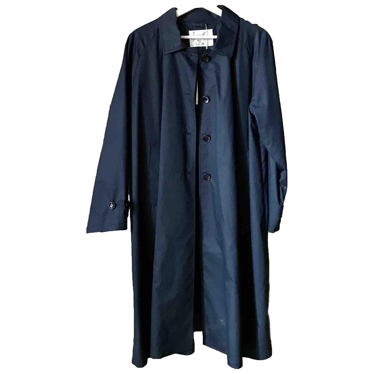 Non Signé / Unsigned \N Blue Cotton jacket for Women 42 IT