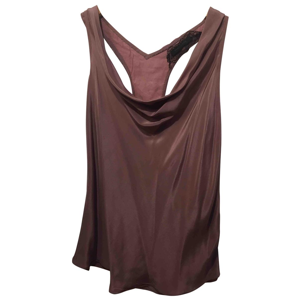 Patrizia Pepe \N Purple Silk  top for Women 44 IT