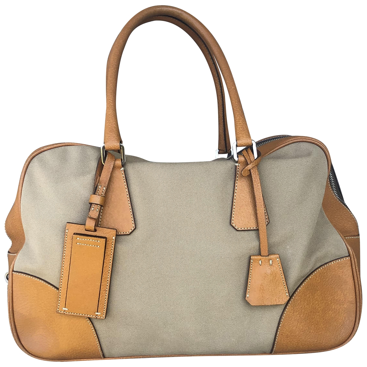Prada \N Camel Cloth Travel bag for Women \N