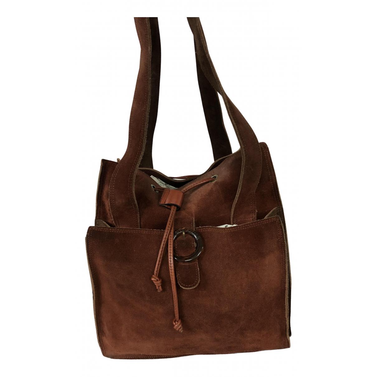 Fendissime \N Handtasche in  Braun Veloursleder