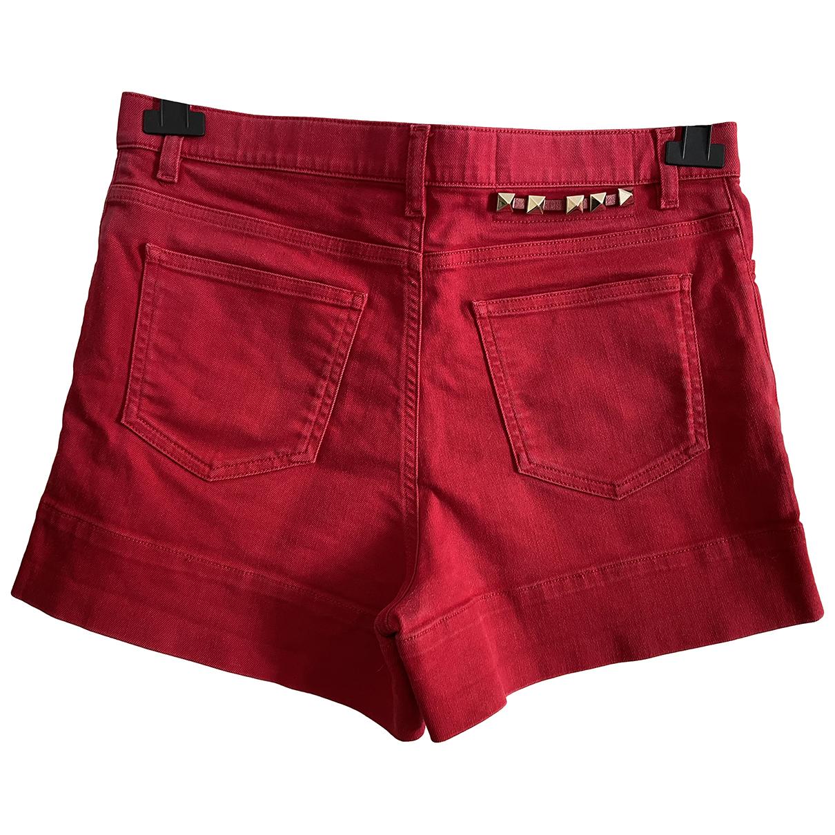 Valentino Garavani \N Red Denim - Jeans Shorts for Women S International
