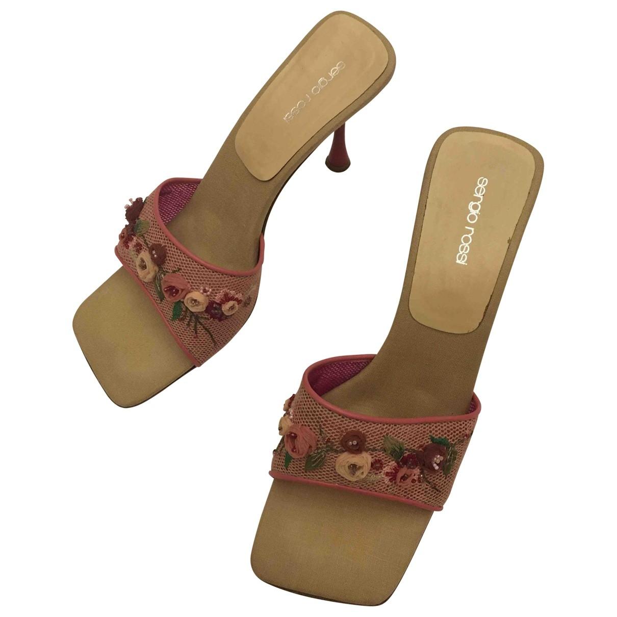 Sergio Rossi \N Pink Cloth Mules & Clogs for Women 41 EU