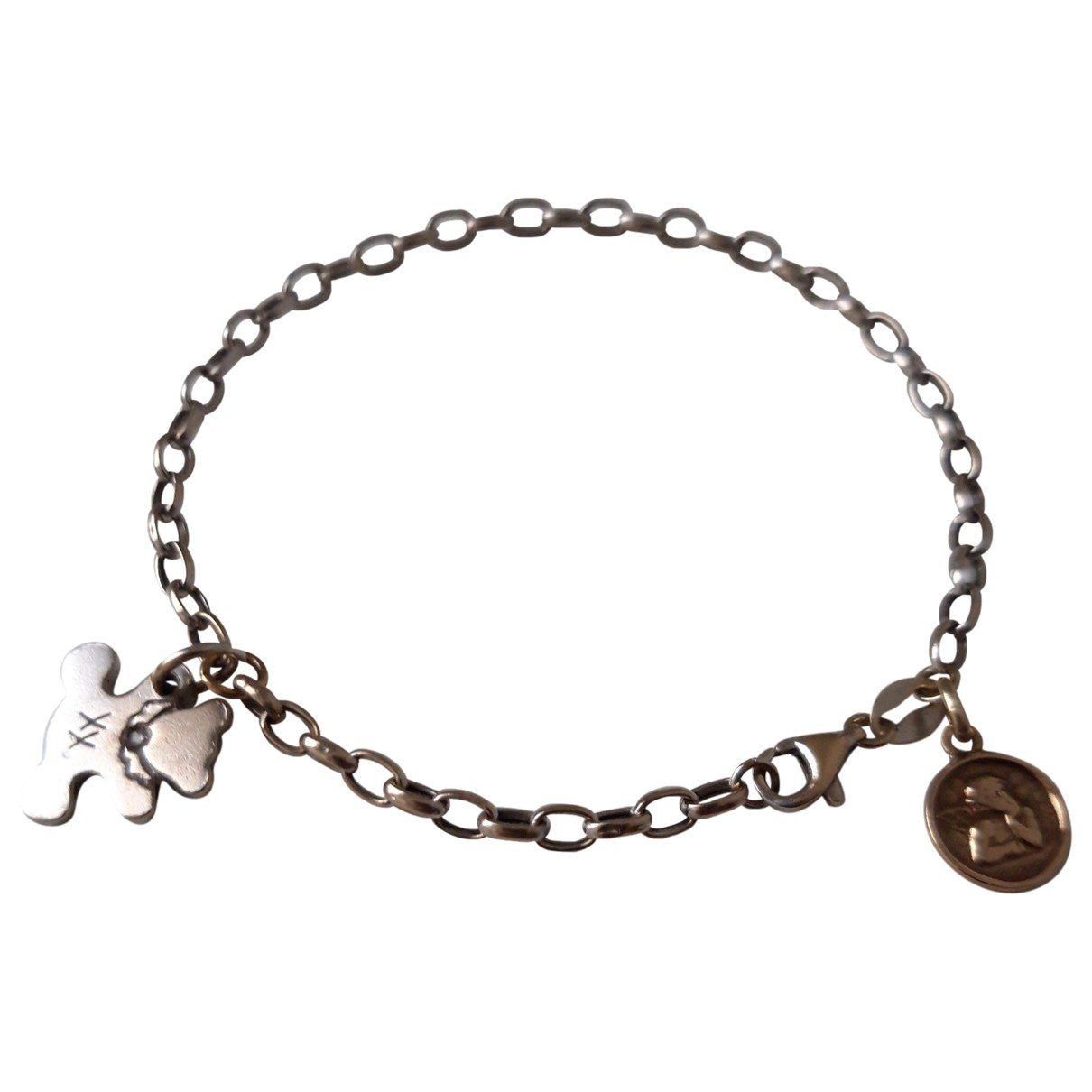 - Bracelet Medailles pour femme en or blanc - argente