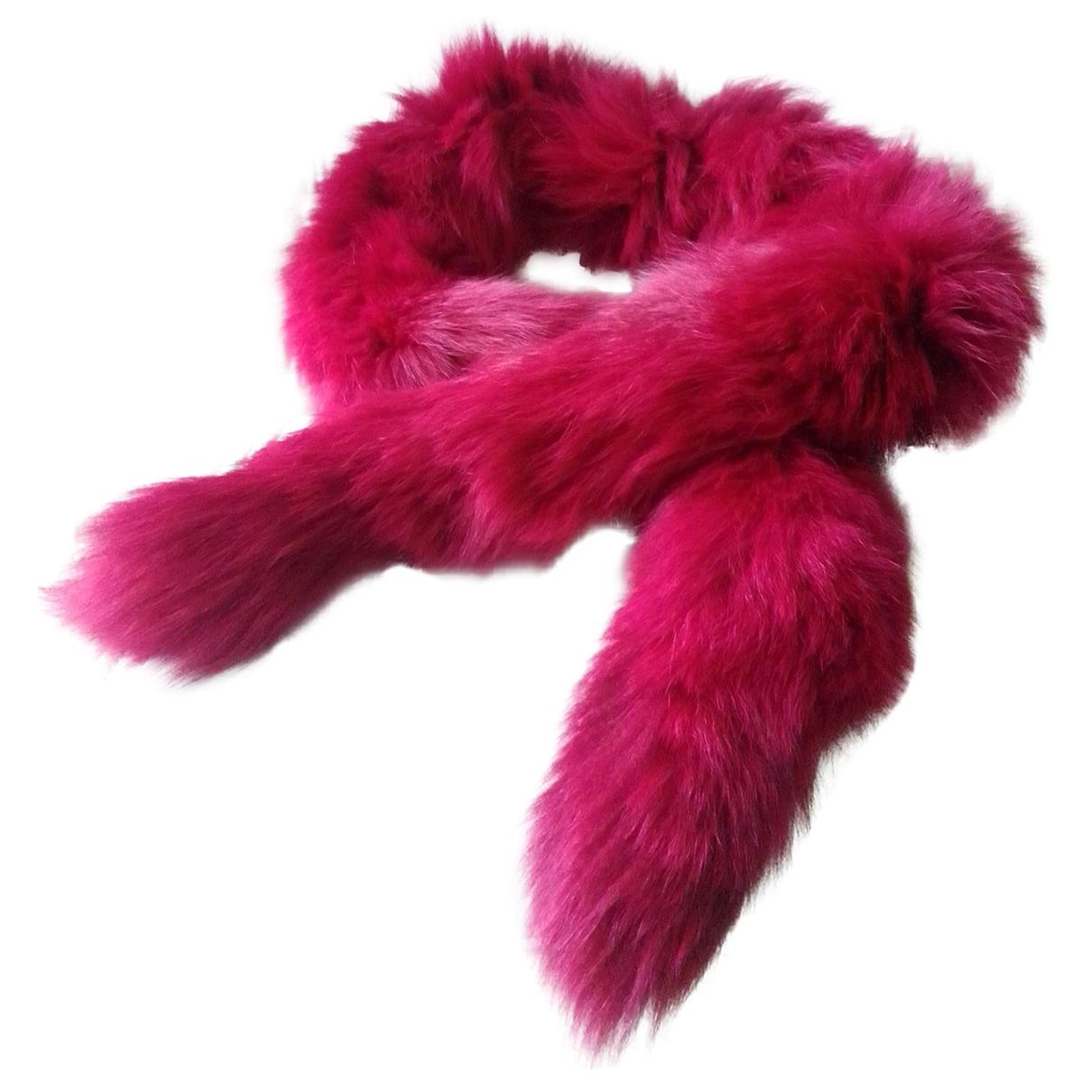 - Foulard   pour femme en renard - rouge