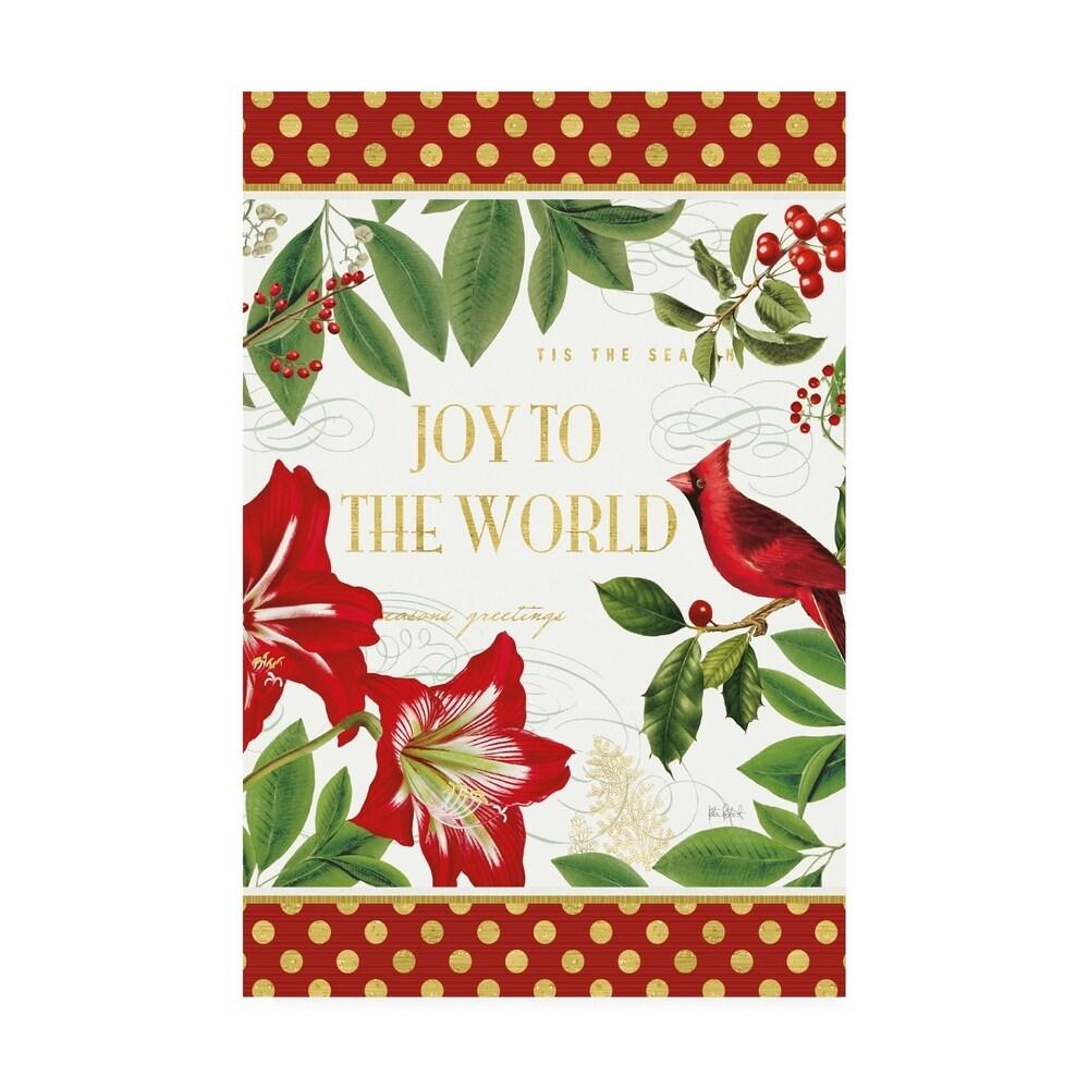 Katie Pertiet 'Christmas Garden Vi' Canvas Art (22x32)