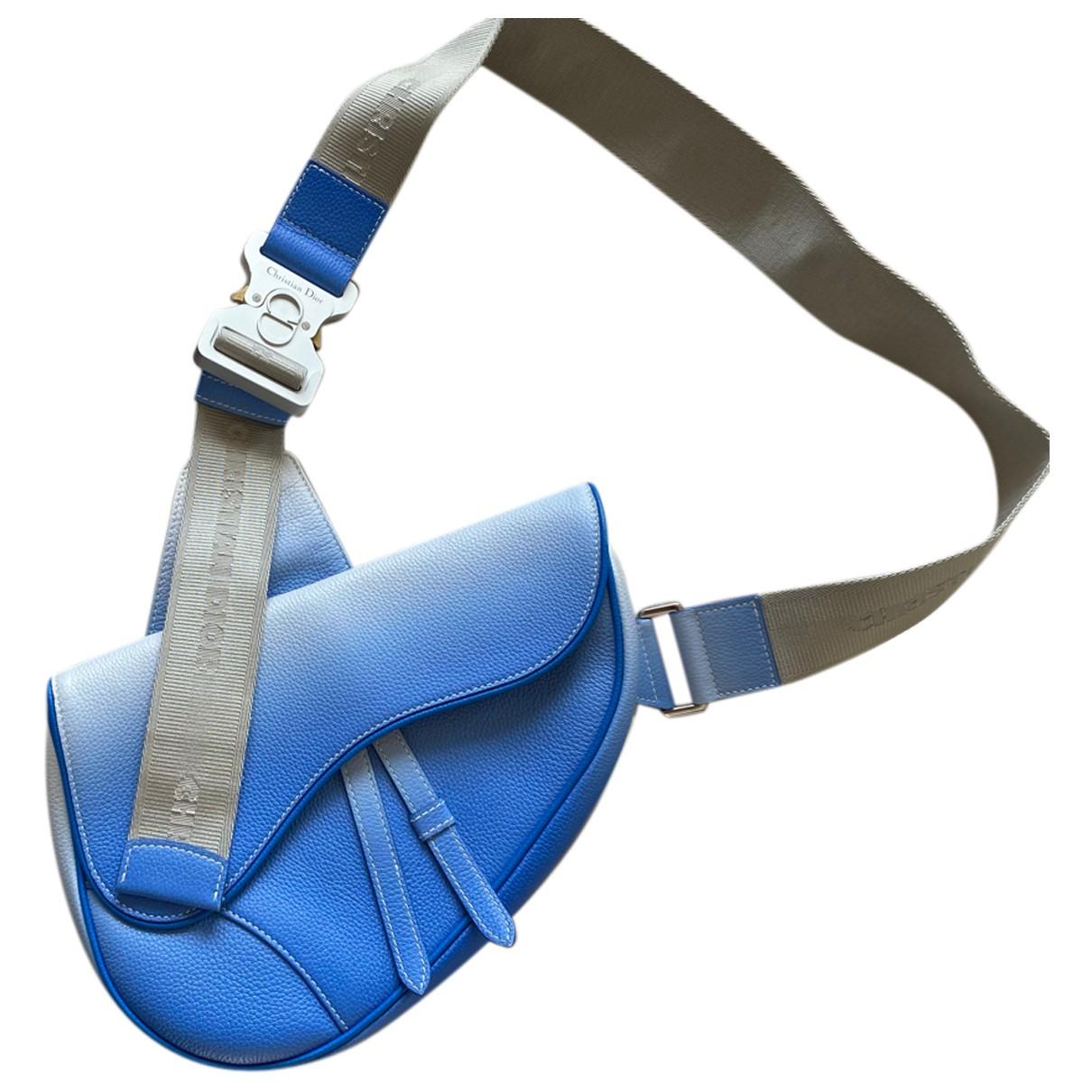 Dior Homme Saddle Blue Leather bag for Men N