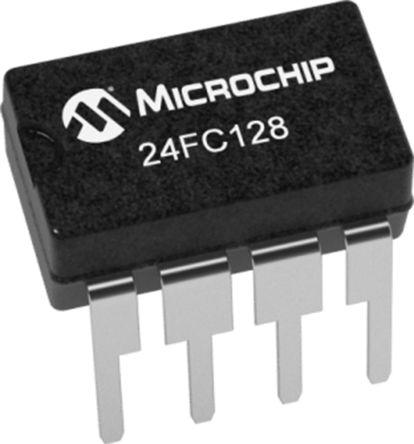 Microchip 24FC128-I/P, 128kbit Serial EEPROM Memory 8-Pin DIP I2C (60)