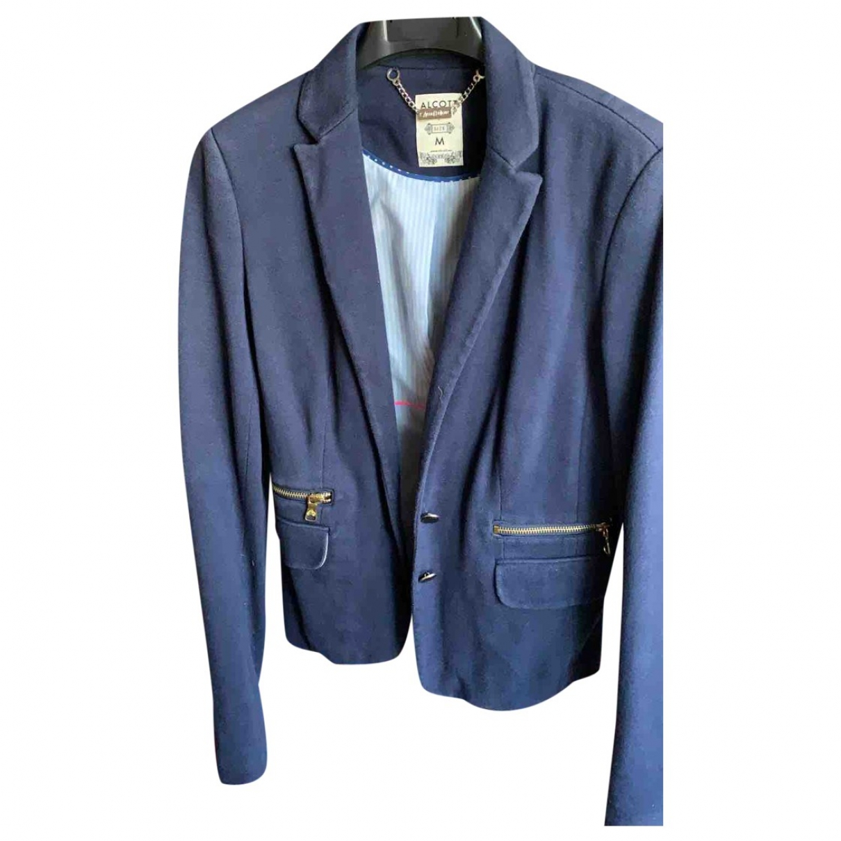 Non Signé / Unsigned \N Blue Cotton jacket for Women M International