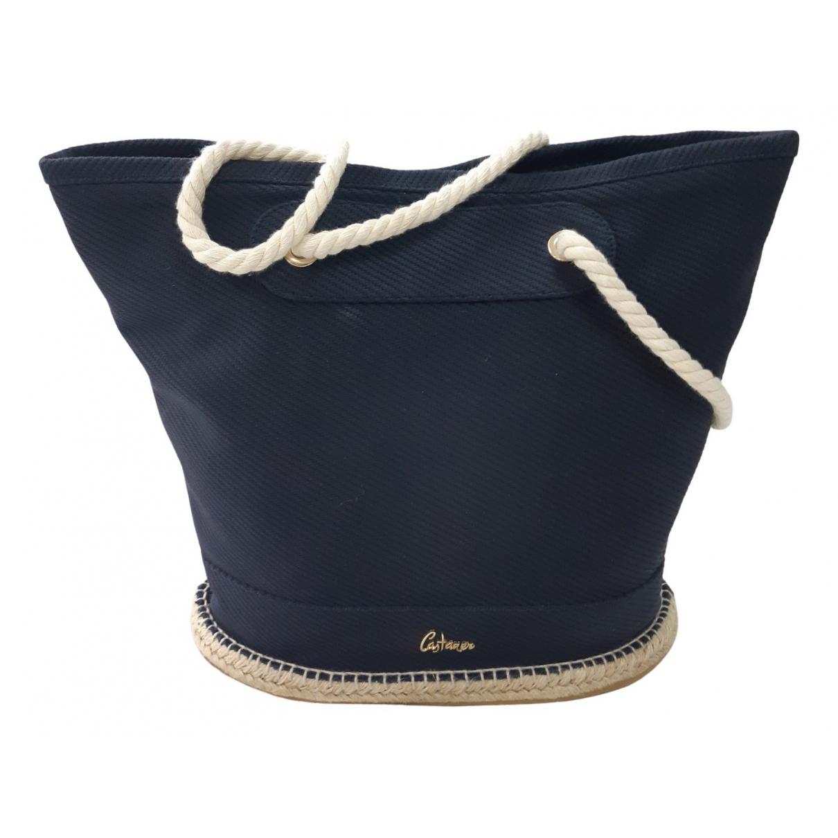 Castaner \N Handtasche in  Blau Leinen