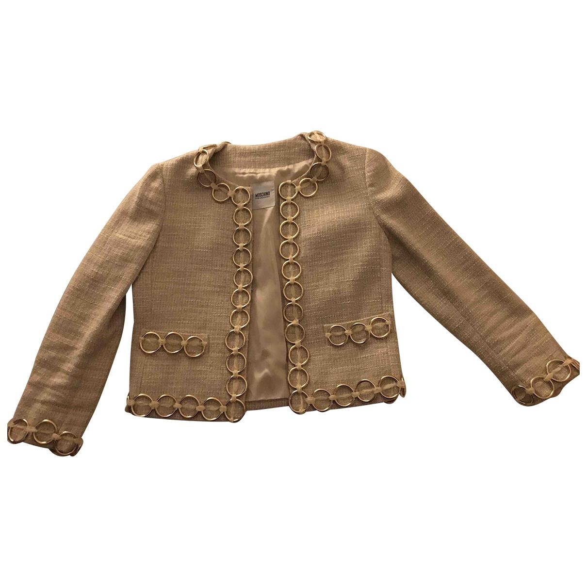 Moschino Cheap And Chic - Veste   pour femme en coton - beige