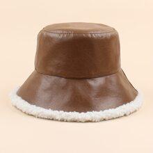 PU Leather Bucket Hat