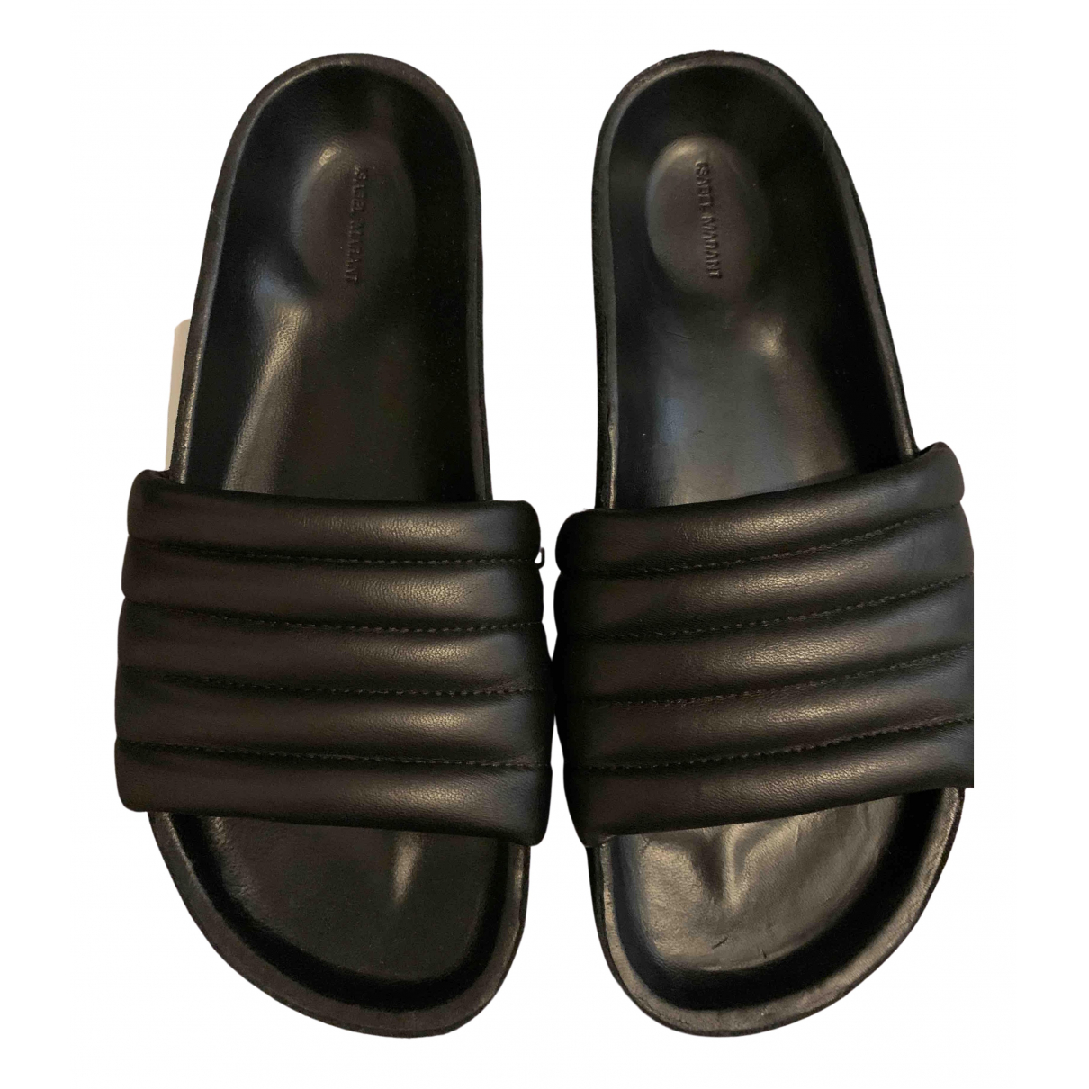 Isabel Marant \N Black Leather Sandals for Women 36 EU