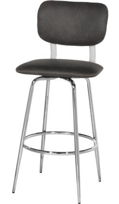 Bloomfield Collection 5110-831 Retro Metal Upholstered Seat and Back Swivel Bar Height Stool in Set of 2 in Chrome