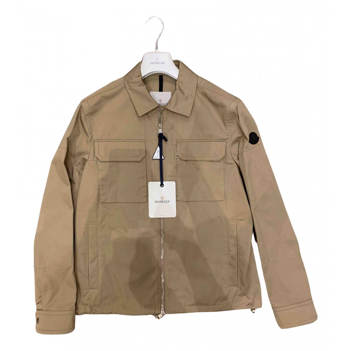 Moncler Classic Jacke in  Beige Baumwolle