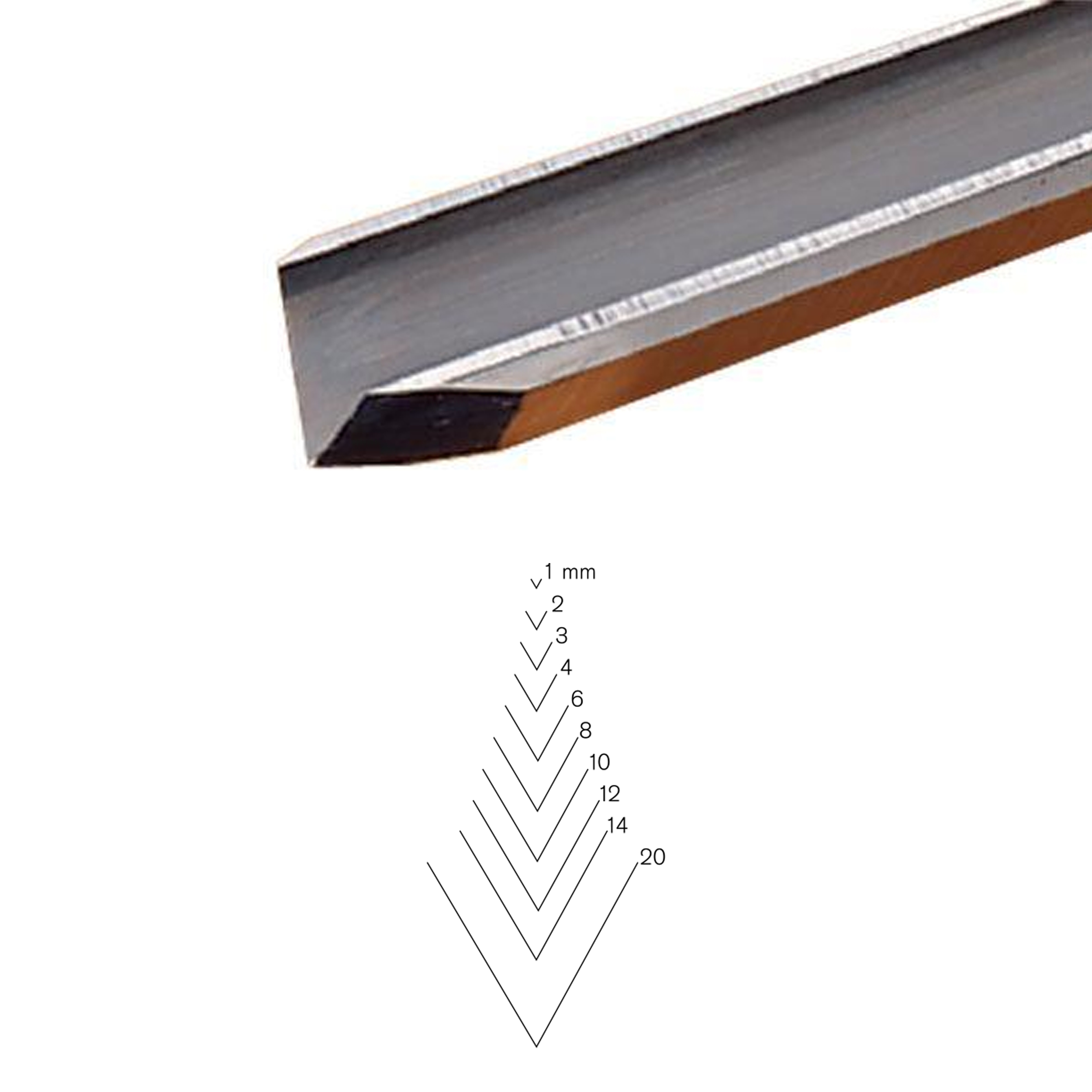 #12 Sweep V-Parting Tool, 8 mm, Full Size