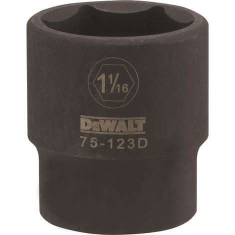 DeWalt 1/2 Drive X 1-1/16 6PT Standard Impact Socket