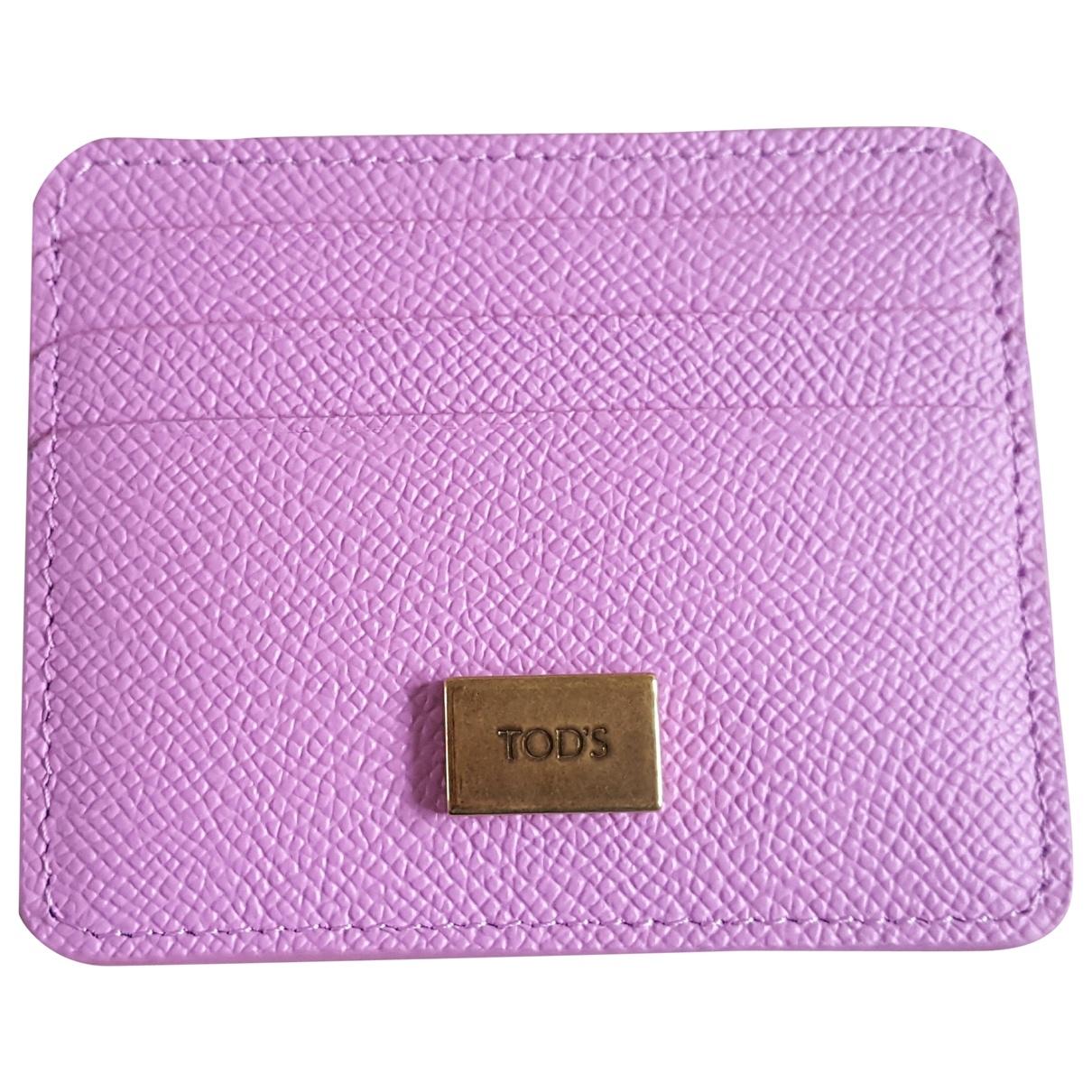 Tod's - Petite maroquinerie   pour femme en cuir - rose