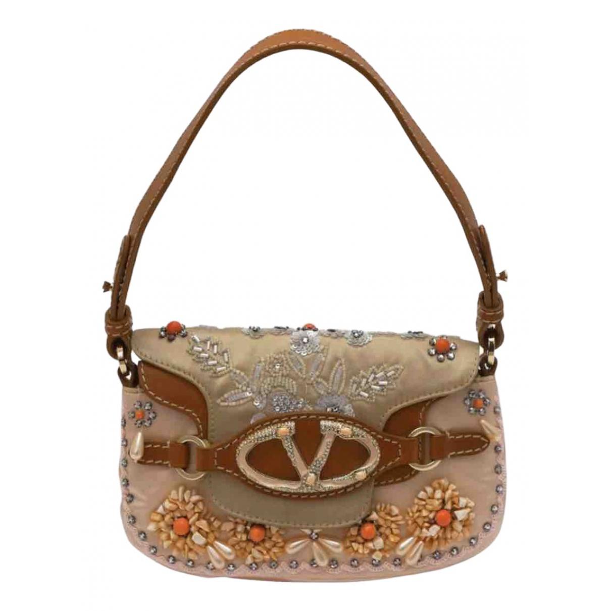 Valentino Garavani \N Handtasche in  Rosa Seide