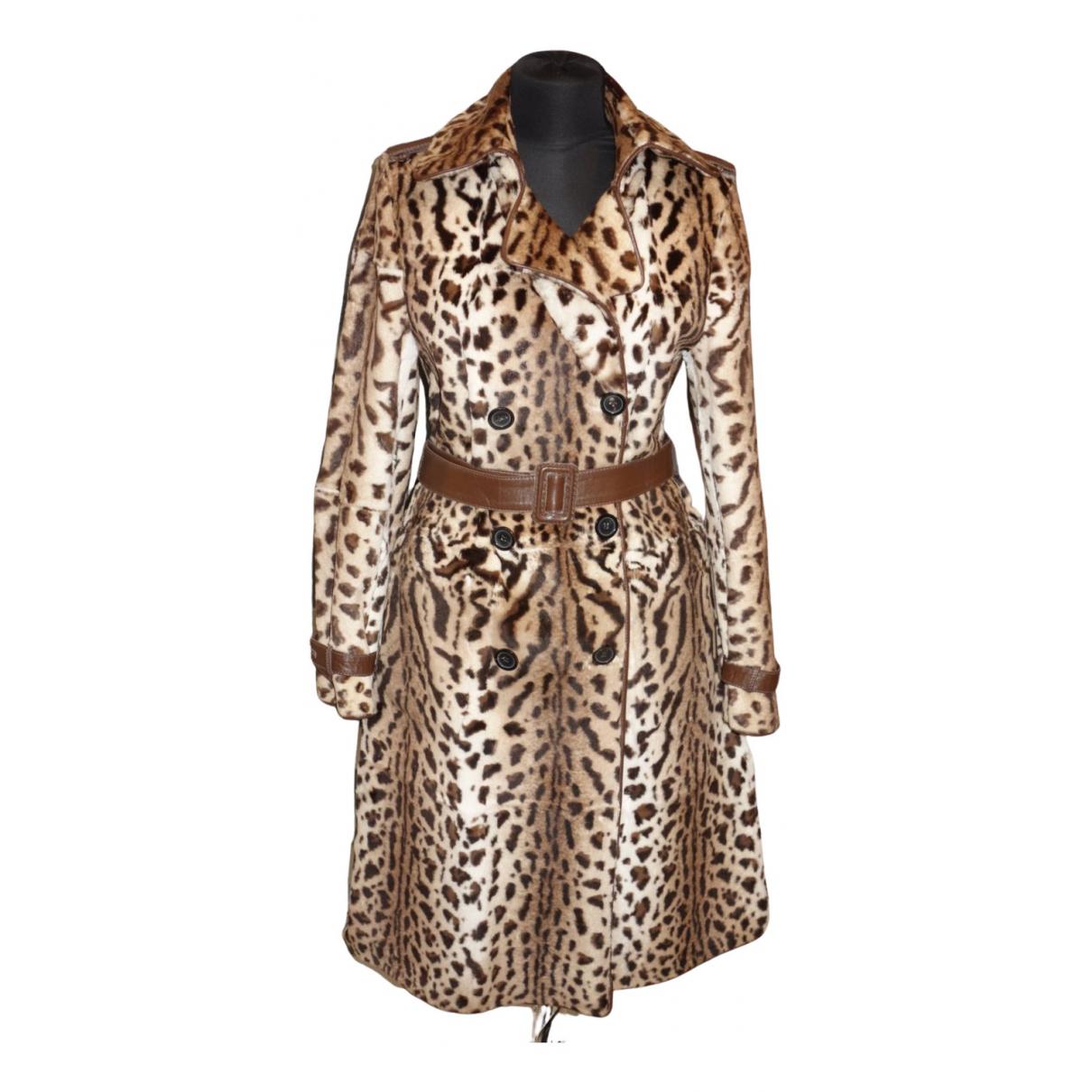 Thes & Thes - Manteau   pour femme en renard - marron