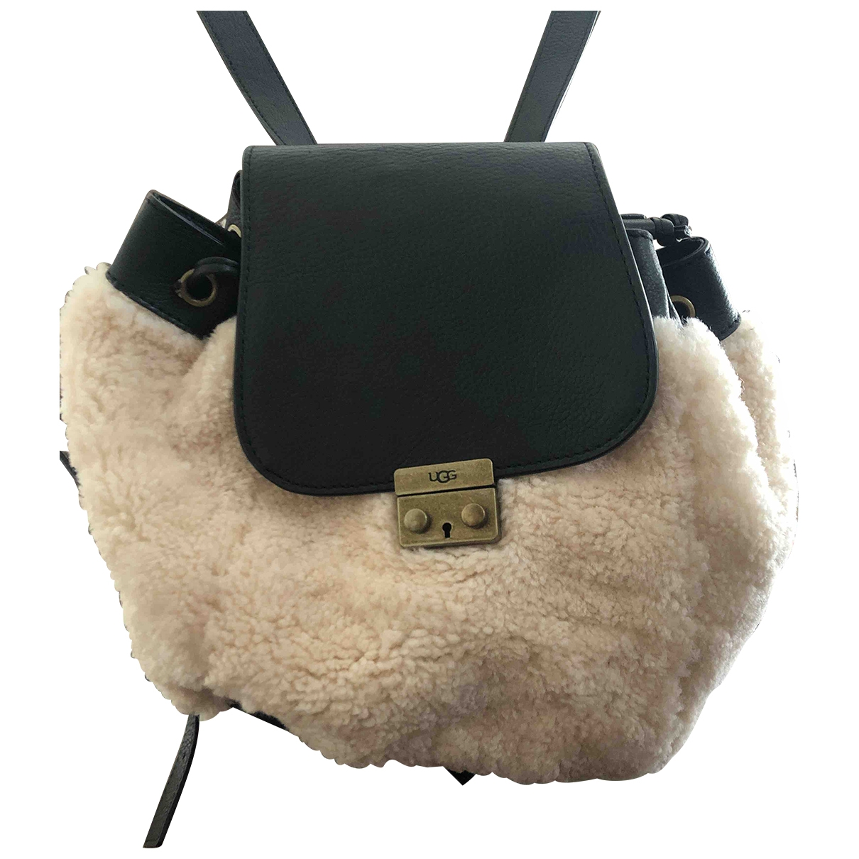 Ugg \N White Fur backpack for Women \N
