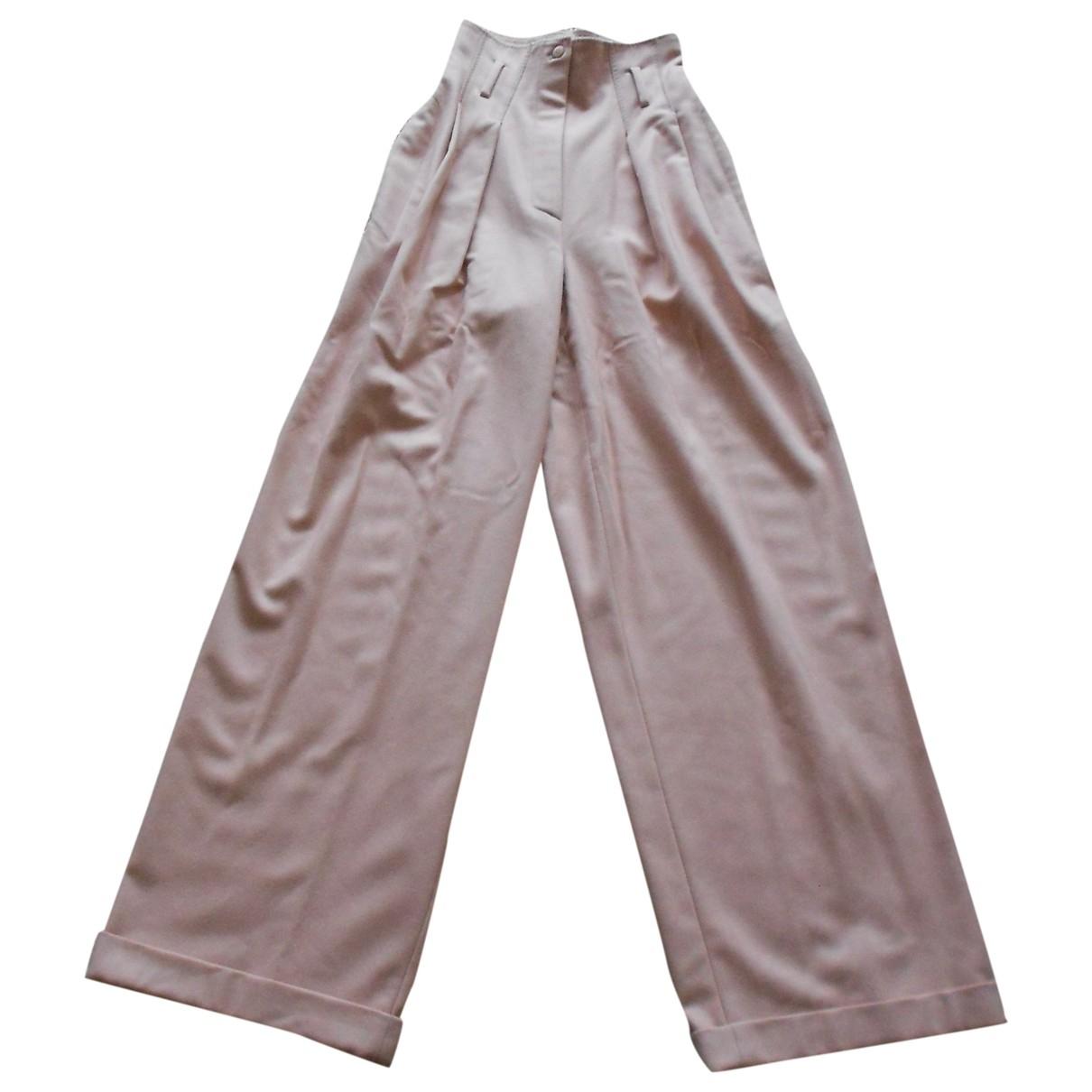 Pantalon largo de Lana Claude Montana