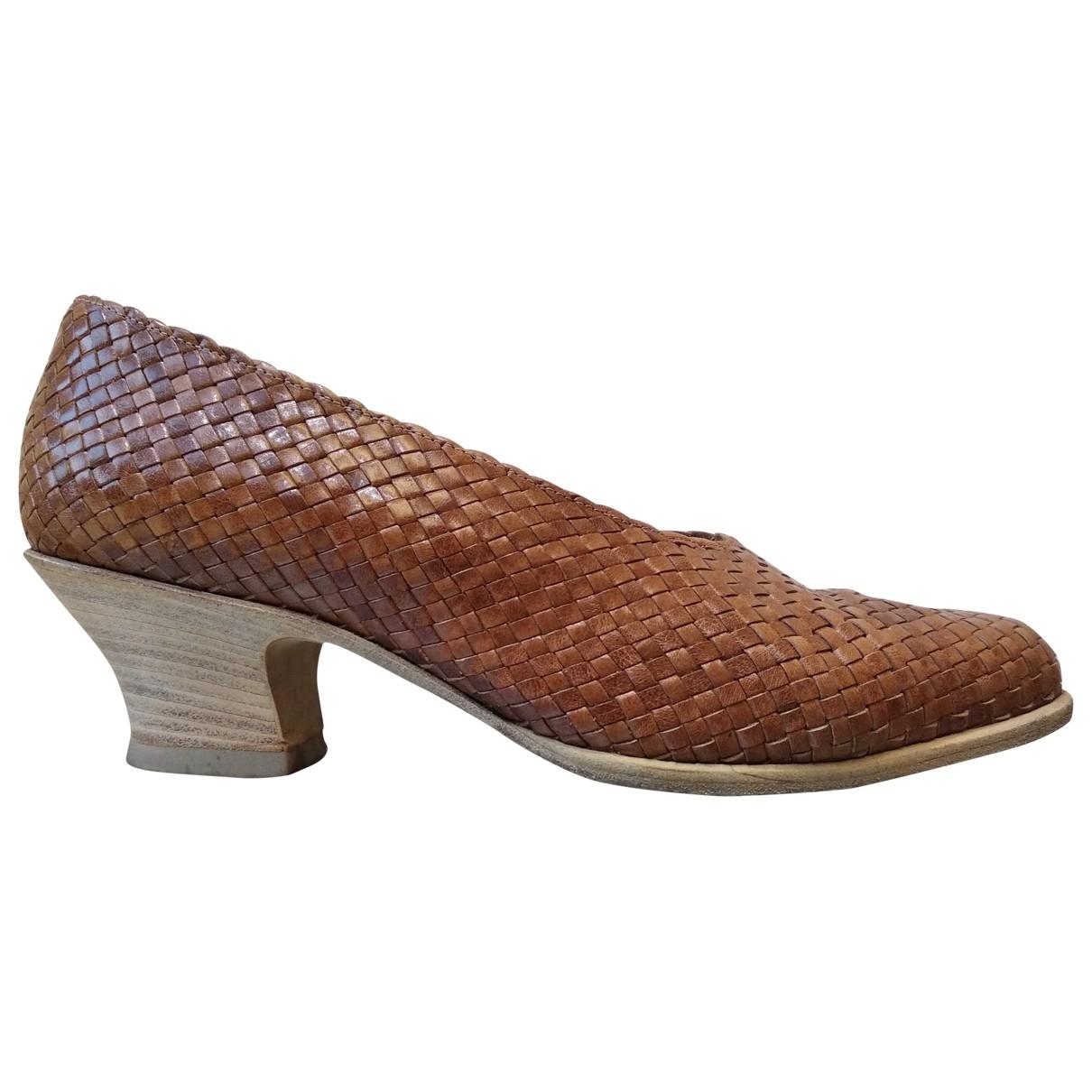 Prada \N Brown Leather Heels for Women 36.5 EU
