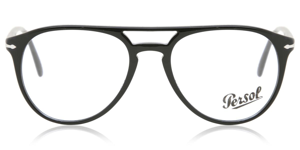 Persol PO3160V 95 Men's Glasses Black Size 52 - Free Lenses - HSA/FSA Insurance - Blue Light Block Available