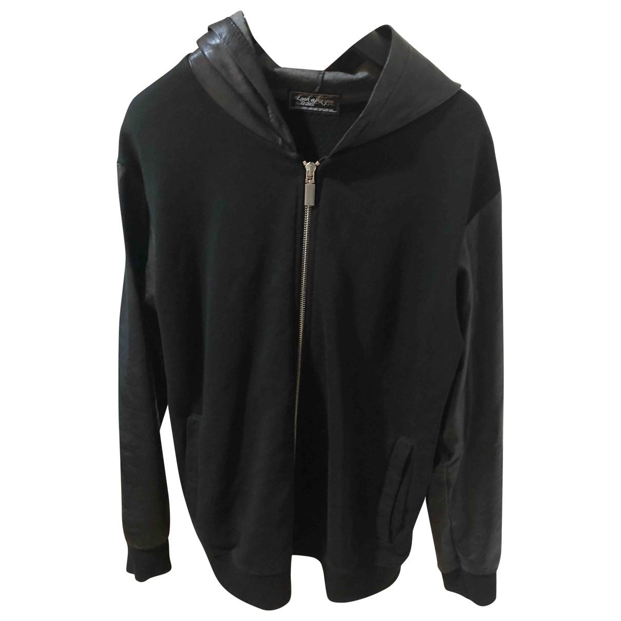 Non Signe / Unsigned Oversize Pullover.Westen.Sweatshirts  in  Schwarz Baumwolle