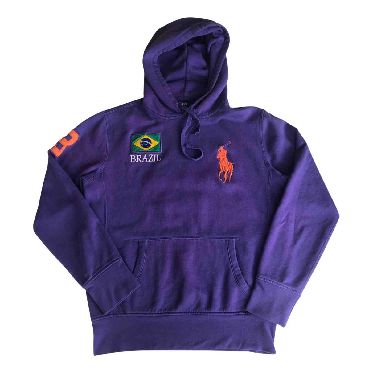 Polo Ralph Lauren - Pull   pour femme en coton - violet