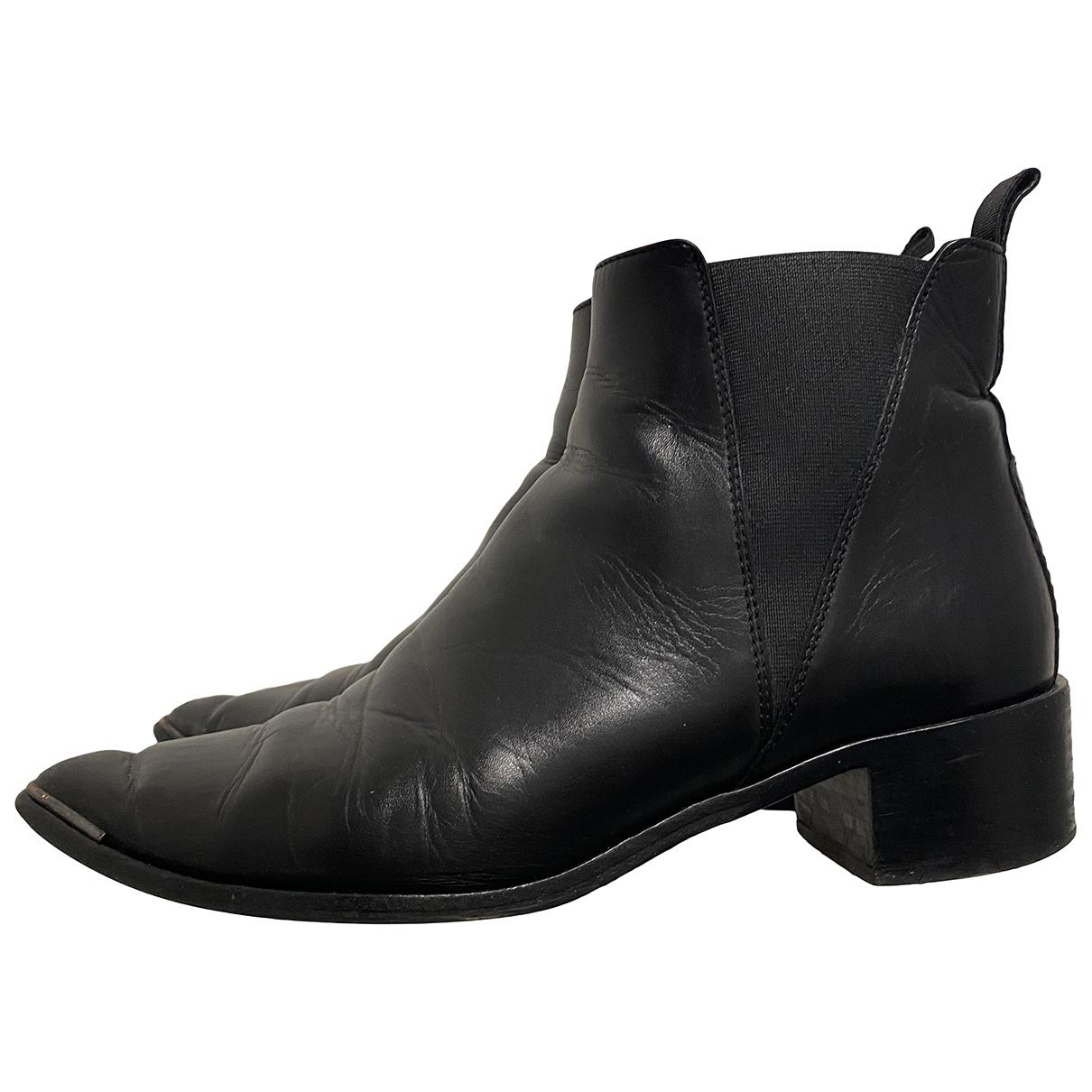 Acne Studios - Boots Jensen / Jenny pour femme en cuir - noir