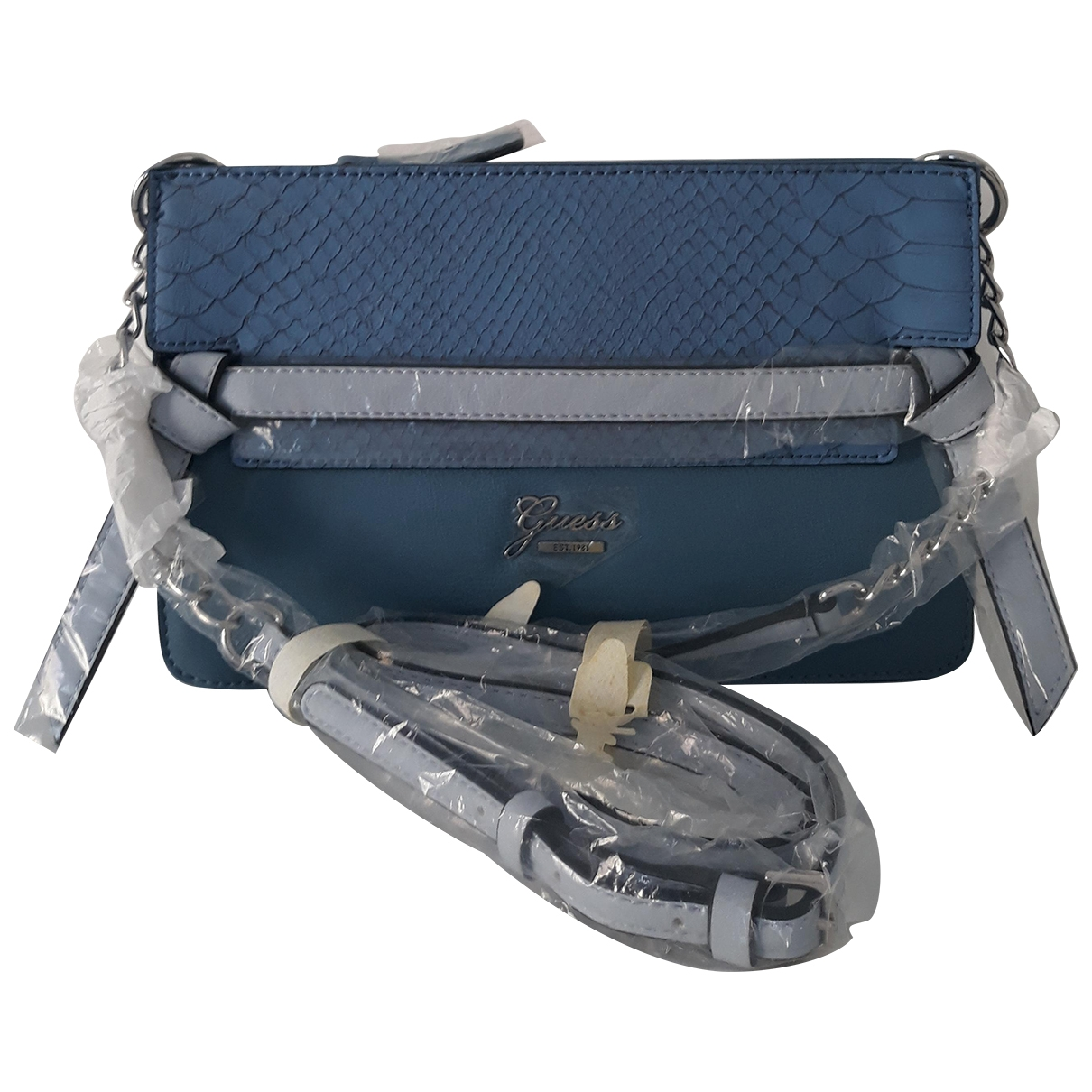 Guess \N Handtasche in  Blau Synthetik