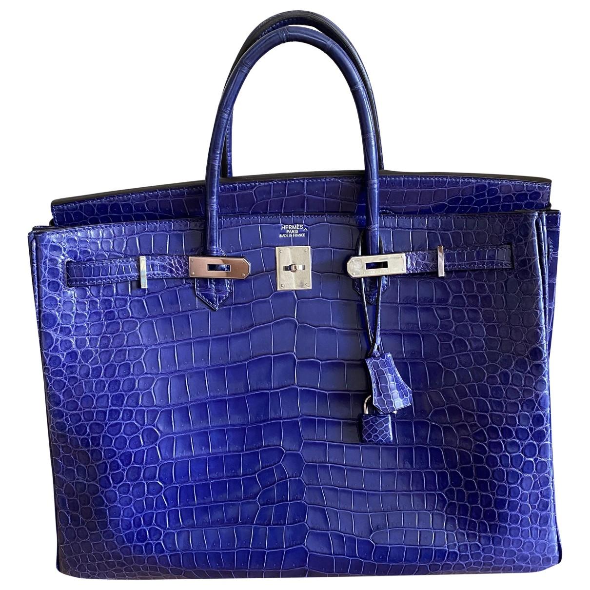 Hermès Birkin 40 Blue Crocodile handbag for Women \N