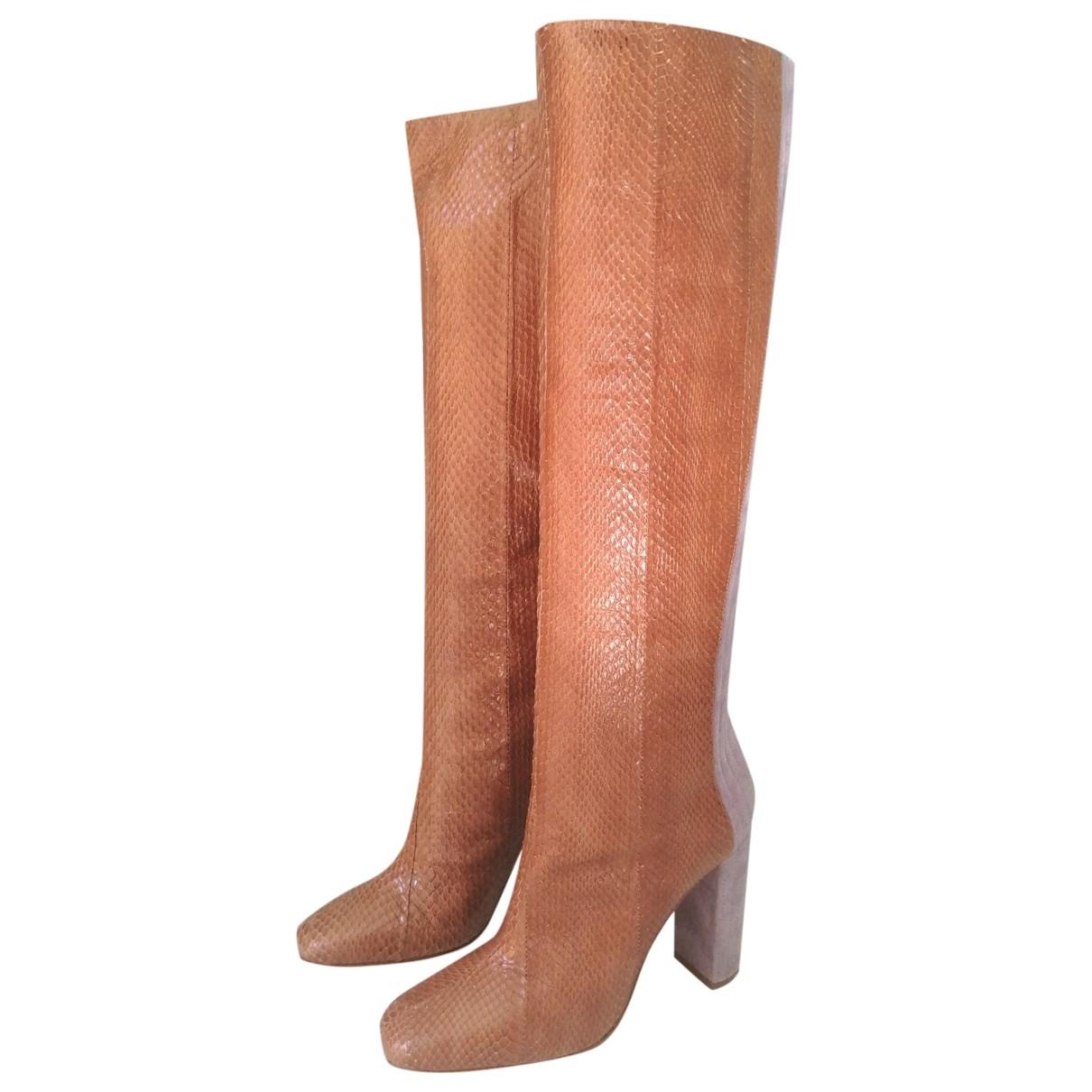 Malone Souliers - Bottes   pour femme en cuir exotique - marron