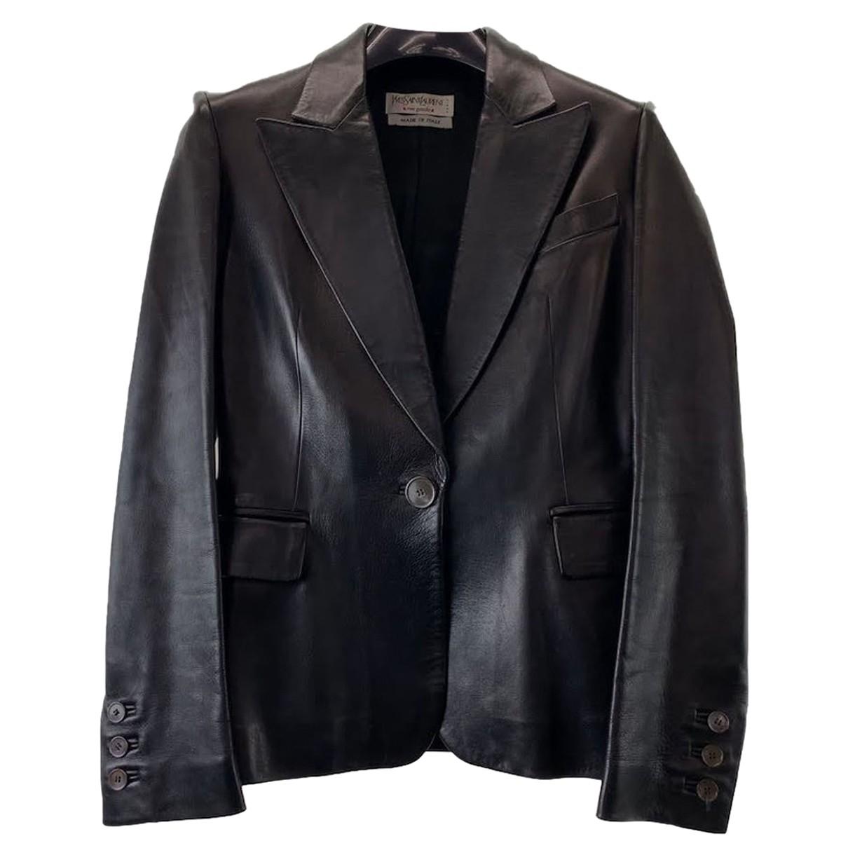 Yves Saint Laurent - Veste   pour femme en cuir