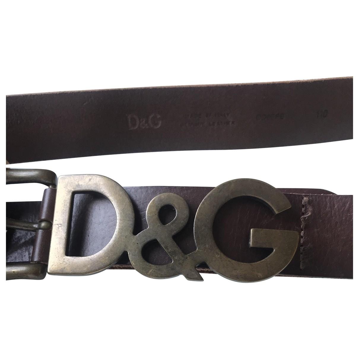 D&g \N Brown Leather belt for Men 100 cm