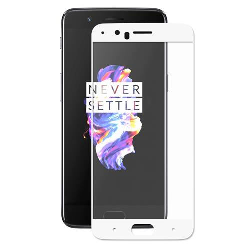 White OnePlus 5 Tempered Glass ENKAY Hat-Prince 0.26mm 2.5D Explosion-proof Membrane Glass Film