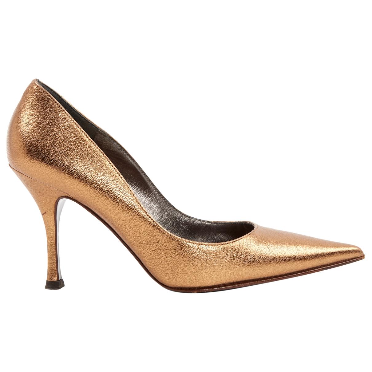 Dolce & Gabbana \N Gold Leather Heels for Women 36.5 EU