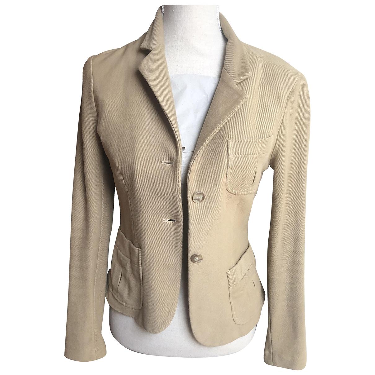 Ralph Lauren \N Beige Cotton jacket for Women 6 US