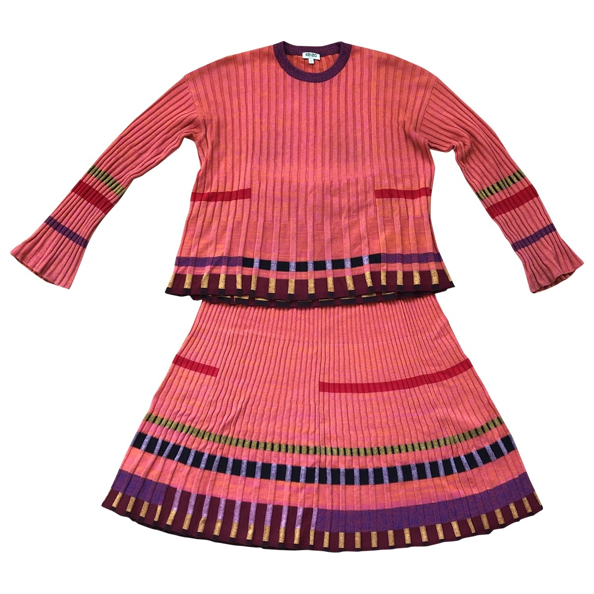 Kenzo \N Kleid in  Orange Baumwolle