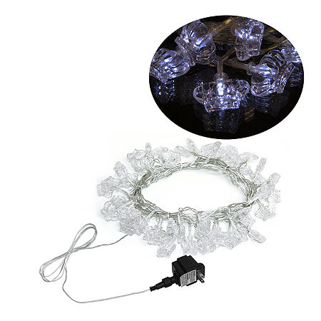 Electric Powered 50 LED Extendable Crown Light Christmas Holiday Party Lights, One Size , White
